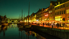 Nyhavn At Night Copenhagen. (James- Burke) Tags: atmosphere atmospheric copenhagen denmark nightphotography nyhavn people scenic street streetphotography