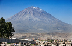 Arequipa (kate willmer) Tags: volcano mountain city town buildings trees arequipa peru