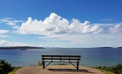 Blue-tiful sea and sky (katy1279) Tags: smileonsaturday bluetiful blueblueskyseascapeskyescotland emptyseatseatwithaview