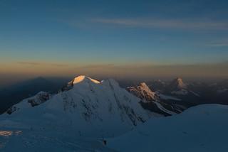 Lyskamm and Matterhorn