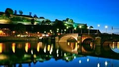 Blue Night (YᗩSᗰIᘉᗴ HᗴᘉS +8 000 000 thx❀) Tags: namur belgium bridge night blue citadelle citadelledenamur hensyasmine water