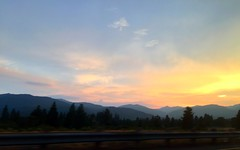 Sunset near Mount Shasta. Smoky skies. (Nancy D. Brown) Tags: mountshasta smokyskies forestfire california roadtrip instagram