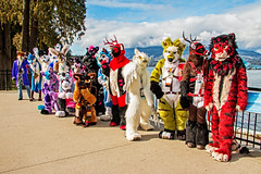 VF 2017 D2 C2 233sfx (Univaded Fox) Tags: ometochtli baby blu blusicurl mountain blue fox crazyjoe vijay sikdar rajeshthelion jaketiggy emptyshadow scratch yen ironfur alexi husky friduwulf hobo takoda zarafa giraffe asher frost outsider sora gryphon tinsel jamerateen fursuits furry convention vancoufur 2017 stanley park north shore mountains vancouver british columbia canada univaded rufus