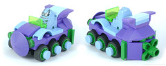 Mini Racers: Purple Pain (Unijob Lindo) Tags: lego racers racing race kart karting xalax car cart mini six wheels scooter small slope curved mudguards mudguard slopes tire tires wheel batmobile purple medium blue light green trans transparent panel flower mario monster cute eggplant aubergine egg plant moc own creation thanks doc