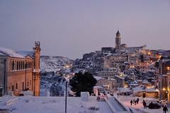 Matera, Basilicata, IT. (Nunù Photography) Tags: snow winter city matera basilicata italia italy landscape lights afternoon urban architecture
