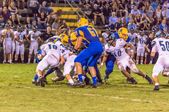 "PVHS v. Palatka '17-273 (mark.calvin33) Tags: pontevedra football nightgame highschool pvhs runningback blocker offense defense kick pass catch hit tackle rush rushingyards rushing student quarterback ""night ""friday night lights"" ""passing game"