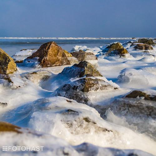 Waddenzee in bevroren toestand