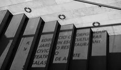 """EDIFICIO CORPGROUP..."" (jpi-linfatiko) Tags: bn bw bnw blackandwhite blancoynegro blanconegro blackwhite nikon d5200 sigma1770 urban urbano urbana escalera stair text texto luces lights sombras shadows"