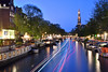 DSC_2230 (Sean Yang_4491) Tags: 荷蘭 nederland nikon d610 阿姆斯特丹 amsterdam canal westerkerk night evening dusk boats boattracks lighttracks