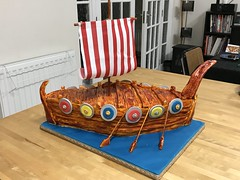 Viking ship cake (tworockdocs) Tags: cake viking boat longboat ship
