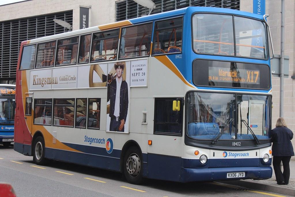 Stagecoach in Warwickshire Alexander Dennis Trident 2/Alexander Dennis  ALX400 18402 (KX06 JYD)