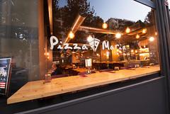 _DSC2144 (fdpdesign) Tags: pizzamaria pizzeria genova viacecchi foce italia italy design nikon d800 d200 furniture shopdesign industrial lampade arredo arredamento legno ferro abete tavoli sedie locali