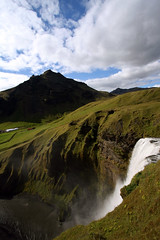 Iceland - Day 04 (Cody Stonerock) Tags: iceland ringroad goldencircle nature adventure outside outdoors getoutside summer summer2016 2016 september september2016 water waterfall canon canon1022 wideangle southiceland green skógafoss edge overlook mountain travel trip vacation