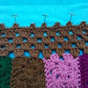 Blocking the picot crochet border (crochetbug13) Tags: crochetbug crazyquiltcrochet embroideryoncrochet narrativecrochet crochetpanels crochetrectangles crochetsquares crochetblanket crochetafghan crochetthrow