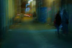 Little Grey Street #19a (SJ Finn) Tags: sjfinn street colour intentional camera movement motion melbourne night time blur flickr flickriver