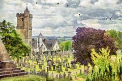Cemetery (Xtian du Gard) Tags: xtiandugard stirling scotland painting cimetière cemetery