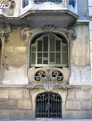 Pale green shutters, the Eixample, Barcelona