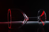 Bending light (Wim van Bezouw) Tags: wineglass glass light dark blackbackground sony ilce7m2 strobist red flash