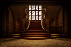Chateau du loup (vdkchristel) Tags: urbex kasteel chateauduloup verval trap stairs hdr