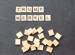Nach vier Tagen: Trump gratuliert Merkel zum Wahlsieg (marcoverch) Tags: noperson keineperson business geschäft text paper papier display anzeigen desktop sign schild achievement leistung cube würfel education bildung finance finanzen texture textur conceptual begrifflich alphabet symbol abstract abstrakt wood holz shape gestalten money geld solution lösung cathedral spring fuji la macromondays analog pumpkin pentax catwa naturaleza