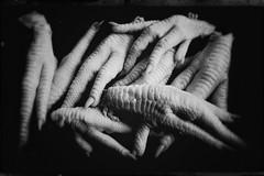Chicken fingers-11093 (Poetic Medium) Tags: stilllife blackandwhite snapseed kitcamghostbird chicken ipod food