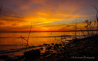Sunset at Clarks Hill Lake