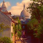 Digital Pastel Drawing of a Street in Montmartre by Charles W. Bailey, Jr. thumbnail