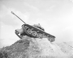 The centurion on the ridge during the Korean war, 21st January 1952