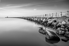 Neptune's Arm (Nathan J Hammonds) Tags: neptunes arm herne bay kent seascape coast water monochrome bw 10stop nd filter calm rocks long exposure contrast