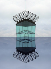 Glas Cage and Nest (Ed Sax) Tags: edsax abstraction architecture blau art kunstphotographie