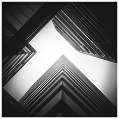 Boxed (Jaka Pirš Hanžič) Tags: brisbane city queensland qld australia architecture abstract skyscraper monochrome black white bw bright dark square blackandwhite noiretblanc building buildings up