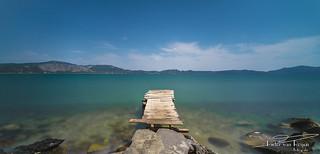Old wooden pier.