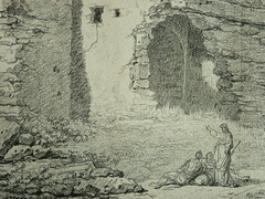 SUVÉE Joseph Benoît - Les Ruines d'un Monument carré, d'une Abside et d'un Acqueduc (drawing, dessin, disegno-Louvre INV32985) - Detail 08 (L'art au présent) Tags: art painter peintre details détail détails detalles drawings dessins dessins18e 18thcenturydrawings dessinsfrançais frenchdrawings peintresfrançais frenchpainters museum paris france ruines ruins stone stones pierre pierres pont bridge acqueduc nature apse fortification édifice building forteresse stronghold fortress croquis étude study sketch sketches antique antiquity ancient antiquités sacred holy blessed figure personnes people femme femmes woman man men