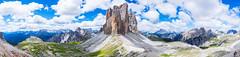 Pano of Tre Cime di Lavaredo in the Dolomites (Richard Brundage) Tags: auronzodicadorevenetoitaly dolomites dreizinnen trecimedilavaredo trecime italia panoauronzodicadorevenetoitalyit