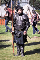 Scottish Halberdiers (GazerStudios) Tags: halberds scottish weapons armor men hats beards guards celtic warriors kilts livinghistory costumes black renaissance 15thcentury leather boots historicalreenactment berets crochet sporrans bracers portraits candids 55300mm nikond90