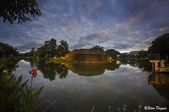 0S1A4937 (Steve Daggar) Tags: chiangmai thailand travel buddhist monk markets street candid asia sunrise reflection moat