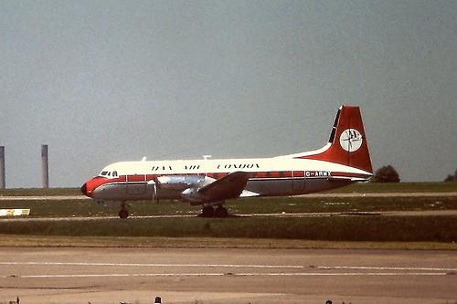 G-ARMX HS748 Dan Air EMA 28-05-77
