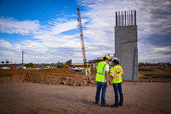 I-10 Straddle Bent Construction - August 2017 (Arizona Department of Transportation) Tags: southmountainfreeway bridge construction bridgeconstruction freewayconstruction