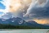 Cumulonimbus (Empty Quarter) Tags: sony a7r 2470 f4 jasper national park alberta icefields parkway thunderstorm cumulonimbus clouds cloud colors canada canadian rockies sunwapta athabasca river mountain mountains