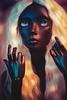 Goddess (Lydia Tausi Photography) Tags: abjd bjd balljointeddoll twilight ingenuese dark darkskin sd woman white hair wig cristaleyes portrait photography doll canon eos500d 50mm lydiatausi
