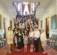 NC AmeriCorps Program Directors and Virginia's Joy Wade and Roxanne Saunders at NC Governor's Mansion