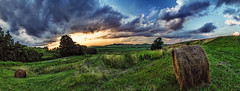 IMG_4693-05Ptzl1scTBbLGEM (ultravivid imaging) Tags: ultravividimaging ultra vivid imaging ultravivid colorful canon canon5dmk2 clouds sunsetclouds scenic fields farm panoramic evening pennsylvania pa vista rural sunset stormclouds balesofhay