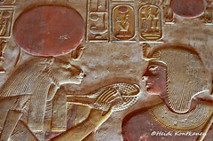 Seti I and Sekhmet (konde) Tags: 19thdynasty newkingdom setii sekhmet goddess relief ankh cartouche templeofsetii ancientegypt abydos