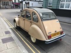 2CV (Sam Tait) Tags: sunny wales chepstow basic car classic rare retro beige french 2cv citroen
