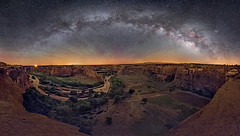 Canyon de Chelly Panorama (Wayne Pinkston) Tags: canyon canyondechelly chicle arizona night sky nightsky panorama nightlandscape nightphotography nightscape waynepinkston waynepinkstonphotocom lightcrafter lightcraftercom star stars starrynight milkyway galaxy cosmos theheavens astronomy astrophotography landscapeastrophotography widefieldastrophotography nikon wideangle