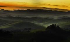 Tuscany, A new day (Massetti Fabrizio) Tags: sunrise sun sunlight sanquirico siena sunset tuscany toscana red rural rodenstock tree twilight phaseone pienza panorami iq180 landscape landscapes italia italy phase