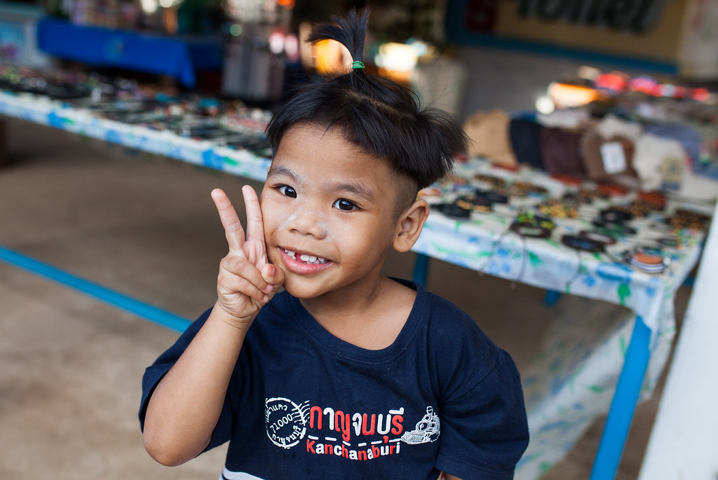 A young boy in Thailand.