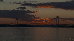 DOWN AT THE SUNSET BRIDGE (BUSTER NYC) Tags: water bridge brooklyn ny canon 70d verrazano sun set