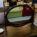 Ornate mahogany dresser mirror E110