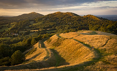 Evening on Hereford Beacon (cliveg004) Tags: malvernhills herefordbeacon worcestershirebeacon evening summer worcestershire herefordshire hills trees hillfort britishcamp nikon d5200